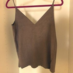 Zara taupe strappy top faux suede size Small